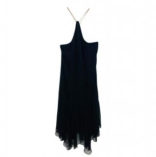 Polo Ralph Lauren Chain Halterneck Chiffon Dress