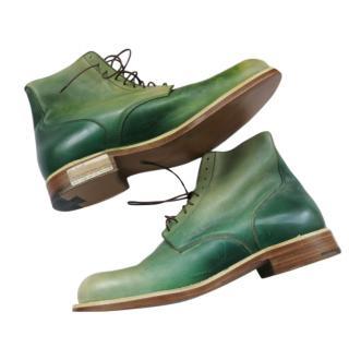 Silvano Lattanzi Hand Painted Green Desert Boots