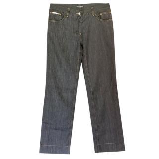 Dolce & Gabbana Grey Wide Leg Jeans