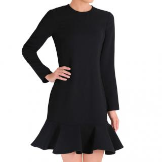 Victoria Victoria Beckham Black Flared Hem Mini Dress
