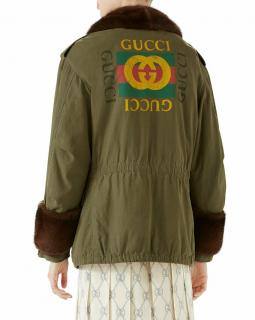 Gucci runway mink collar and cuffs parka