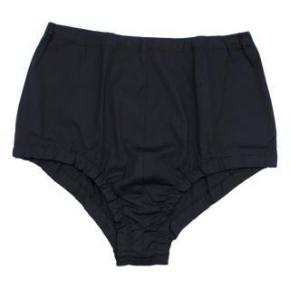 MIU MIU Cotton Blend Stretch Navy Briefs/Shorts