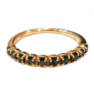 Bespoke green diamond eternity ring