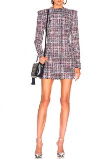 Balmain Multicolour Tweed Boucle Mini Dress