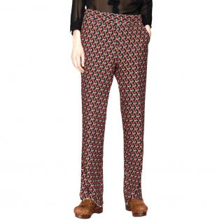 Gucci Men's Tailored Wicker Print Trousers