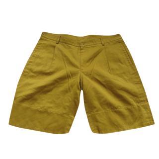 Hermes Mustard Yellow Bermuda Shorts