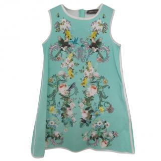 Roberto Cavalli Aqua Floral Dress