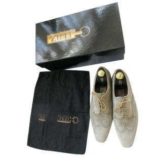 Zilli Grey Suede Brogues