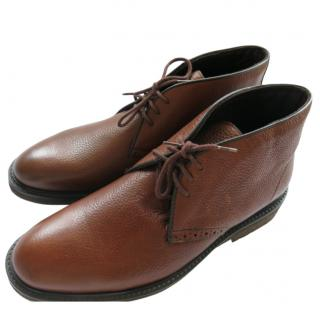 A Testoni Brown Leather Desert Boots