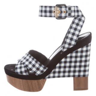 Louis Vuitton Gingham Platform Sandals