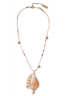 Etro Shell, Crystal & Faux Pearl Necklace