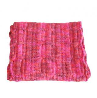 Missoni pink merino wool & mohair scarf