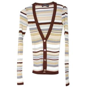 Dolce & Gabbana Striped Lurex Cardigan