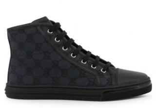 Gucci Black Monogram High-Top Sneakers
