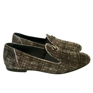 Chanel Grey Check Ponyhair Loafers