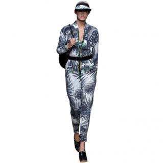 MaxMara jungle print silk jumpsuit