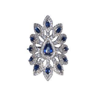 Bespoke Blue & Silver Filigree Ring