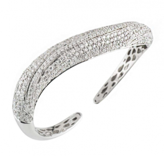 Bespoke White Gold Diamond Set Bangle