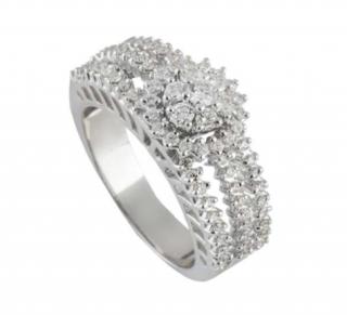 Bespoke White Gold Diamond Triple Row Ring