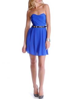 Zimmermann Sapphire Blue Silk Strapless Dress