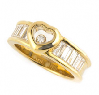 Chopard Gold Heart Ring in Gold with diamonds
