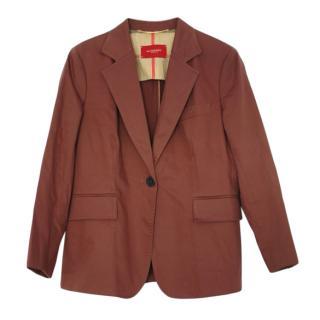 Burberry Brown Cotton Blend Blazer