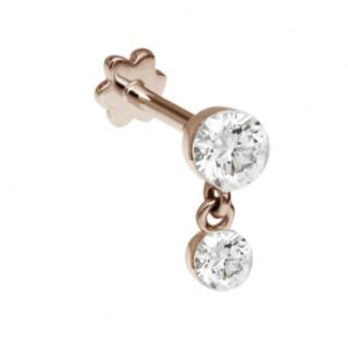 Maria Tash 1.5mm Invisible Set Diamond Dangle Threaded Stud