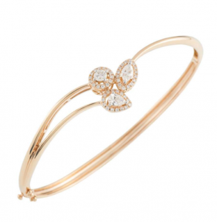 Bespoke Rose Gold Diamond Bangle
