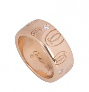 Cartier Rose Gold Diamond Set Ring