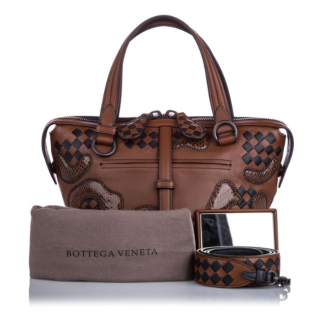 Bottega Veneta Paisley Checker Tambura Tote Bag