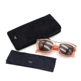 Celine Pink Opaque Square Sunglasses