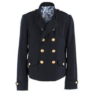 Dolce & Gabbana Men's Tailored Navy Double-Breasted Jacket