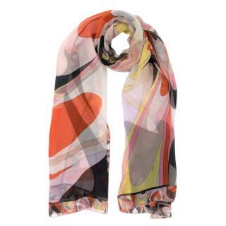 Emilio Pucci Sheer Silk Printed Scarf