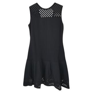 Fendi Black Knit Mesh Panelled Swing Dress