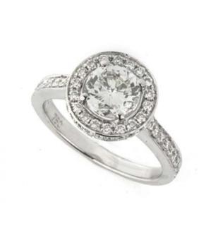 Bespoke White Gold Brilliant Cut Diamond Ring