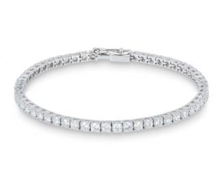 Bespoke White Gold Diamond Line Bracelet