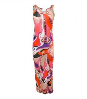 Emilio Pucci Red/Pink Multi-Coloured Printed Maxi Dress