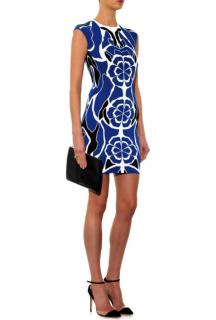 Alexander McQueen Flower-intarsia Stretch-knit Dress