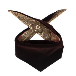 Miu Miu Mens Black Cherry Velvet Neckscarf