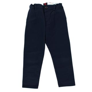 Gucci Children's Navy Cotton Trousers