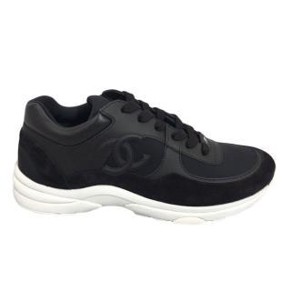 Chanel Black CC Sneakers