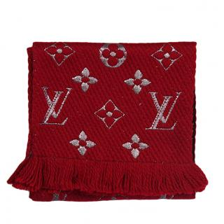 Louis Vuitton Logomania Red Shine Scarf