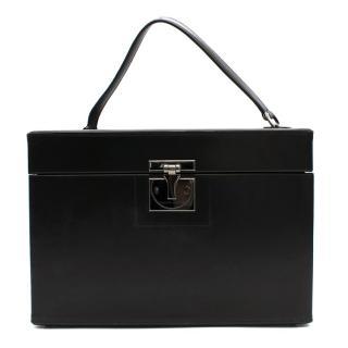 Tanner Krolle Black Leather Vanity Case