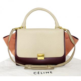 Celine Leather Tri -Colour Trapeze Bag