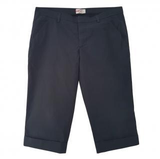 Prada navy tailored shorts