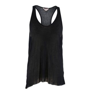 Helmut Lang Sheer Black Tank top