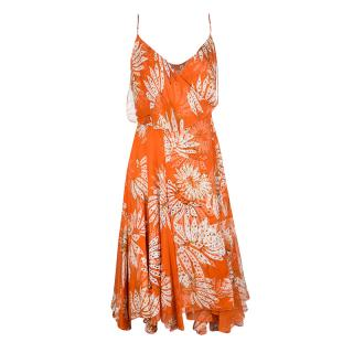 Diane Von Furstenberg Orange Tupai Wrap Dress