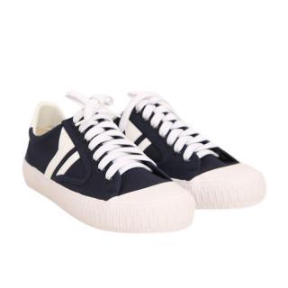 Celine Navy & White Sneakers