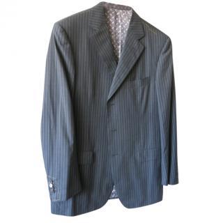 Zilli Grey Striped Fine Wool Suit
