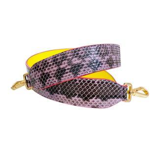 Fendi Purple Python Strap You